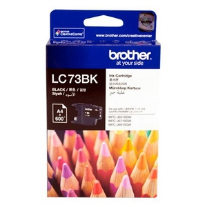 muc in brother lc 73 black ink cartridge lc73bk