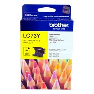 muc in brother lc 73y yellow ink cartridge lc 73m